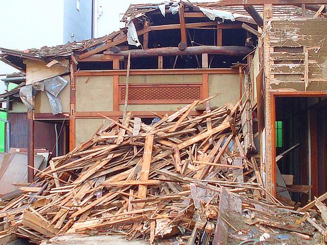 空き家が倒壊する危険性