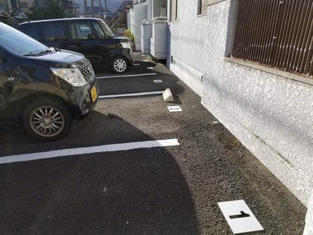 【アンクルホームの賃貸管理】駐車場管理プレートを貼ってきた⑤