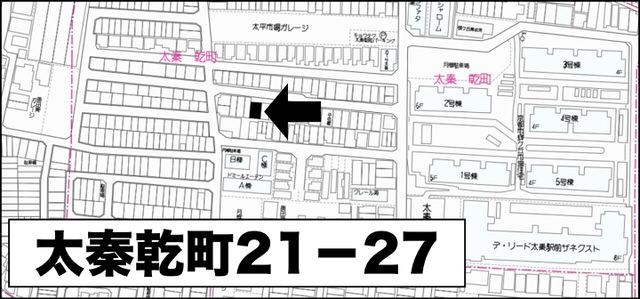 京都市右京区太秦乾町のオープンハウスの場所